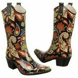 Nomad Women's Yippy Western Inspired Rain Boot